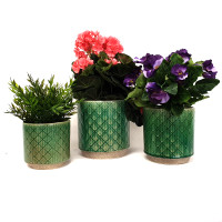 GAIA (DIAMONDS) - SET OF 3 PLANTERS - SS1003