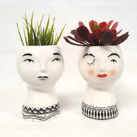 Princess face vases - SS1021