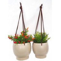 CHARCOAL HANGING PLANTER SMALL - SY019