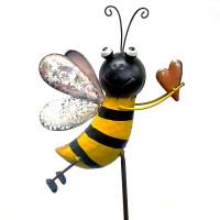 BEE WITH HEART STAKE - HF94760