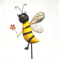BEE WITH FLOWER STAKE - HF94761