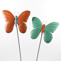 PAIR OF BUTTERFLY STAKES - HF4012