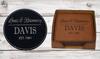Personalized Leather Coaster Set