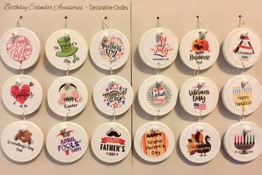 Holiday Circles for Birthday Calendars