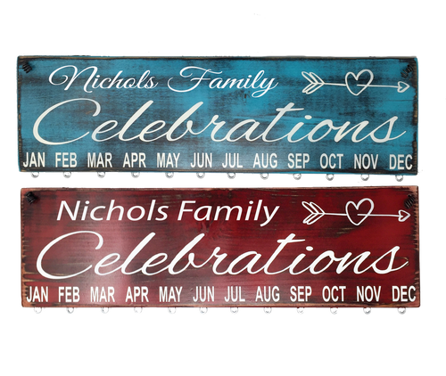 Custom Birthday Calendar - Custom Name Choose either Print or Italic Font