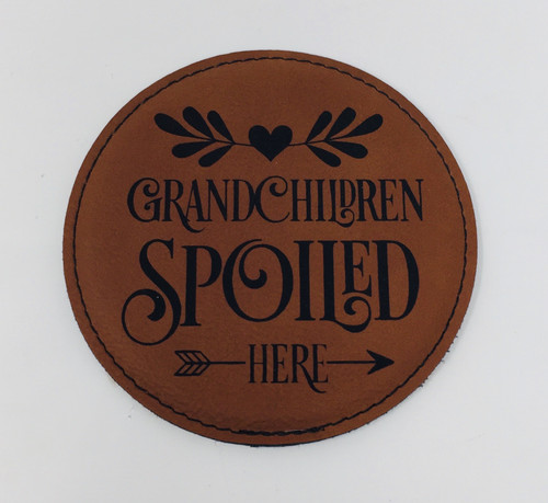 Grandchildren Spoiled Here Coaster Set