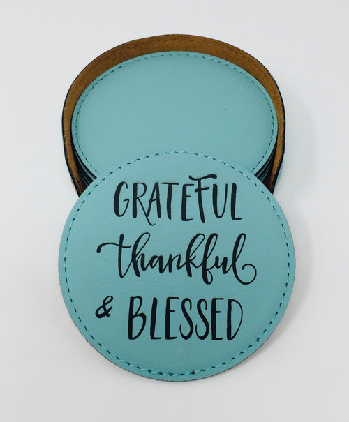 Grateful Thankful & Blessed - Coaster Set