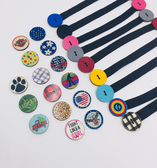 "1"" Elastic Button Extenders Button Styles"