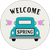 """Welcome Spring - 8"""" Circles"""