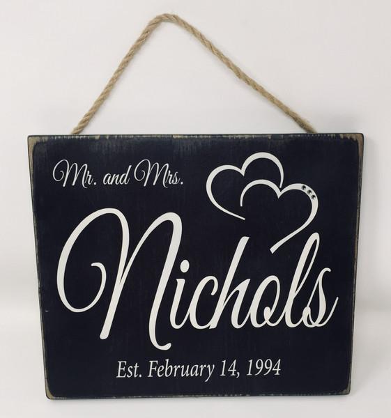 Mr. & Mrs. Name Sign