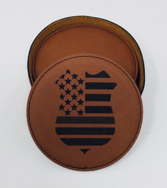 Police Badge Coaster Set