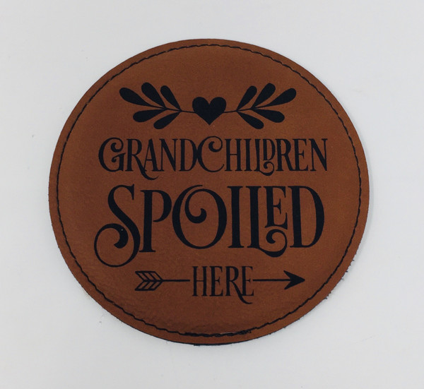 Grandchildren Spoiled Here Coaster Set