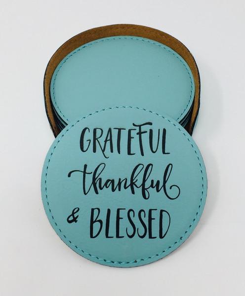 Grateful Thankful & Blessed - Coaster Set