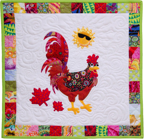 Canadian Critters – Machine Appliqué Class (Reef the Rooster or Earl the Bald Eagle
