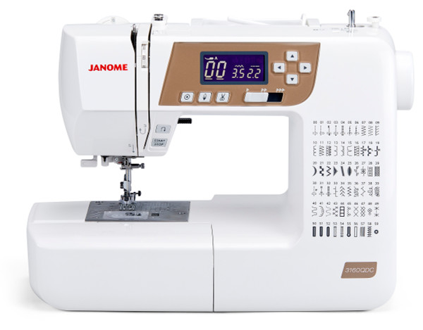 Janome 3160QDC-T (Gold Face) Sewing and Quilting Machine