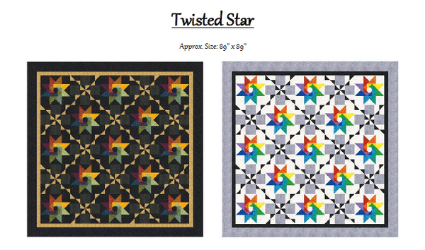 Twisted Star – Skill Building Quilt Pattern Class with Billie Prost