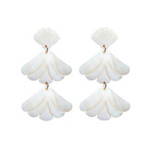 MOP SHELL DROP EARRING