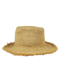 319 PACKABLE RAFFIA BUCKET - NATURAL