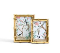 GOLD FAUX BAMBOO FRAMES - SET OF TWO