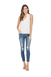 53E9438-8 TIERED SHELL TOP - WHITE