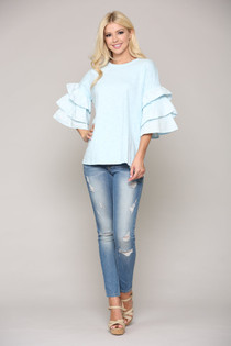 7718CS CAMRYN TOP - SKY BLUE