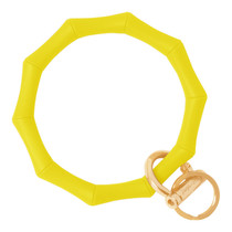 BAMBOO KEY RING - YELLOW