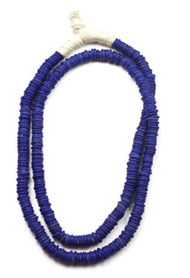 TRADE BEADS NECKLACE - INDIGO