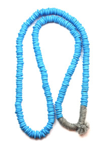 TRADE BEADS NECKLACE - POLISHED TURQ