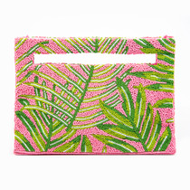 154 CUT OUT HANDLE CLUTCH - PINK/LIME