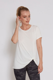 MADDISON S/S KNOT TEE