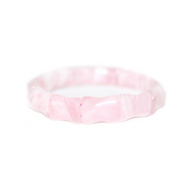 BAMBOO BANGLE - ROSE QUARTZ