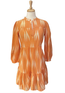 FOLLY MINI DRESS - ORANGE IKAT