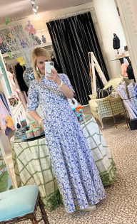 CLASSIC SHIRT DRESS - BLUE PORCELAIN