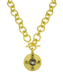 JC156-14 DIVINA NECKLACE - PYRITE