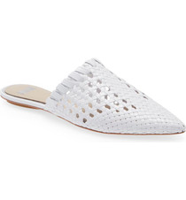 ALANA LEATHER MULE - WHITE