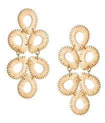 STRAW GINGERS EARRING - NATURAL
