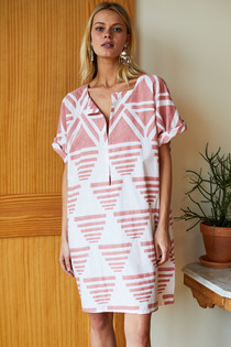 RISE CAFTAN - MUTED CLAY