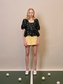 Deuce Floral Tailored Shorts - Yellow