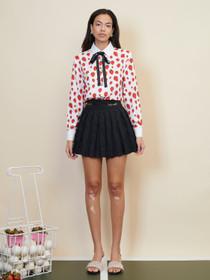 Wild Card Pleated Mini Skirt - Black