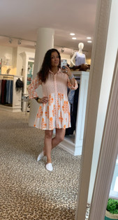Deauville Dress - Coral