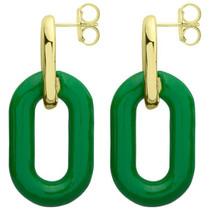 RBRR1012GR Small Shakedown Earrings - Green