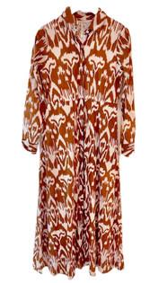 Classic Shirtdress - Caramel Ikat