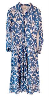 Classic Shirtdress - Blue Ikat