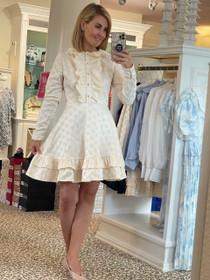 Deer Ruffle Mini Dress - Cream