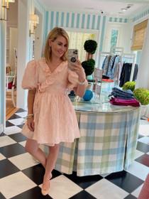 Almond Vine Mini Wrap Dress - Pink