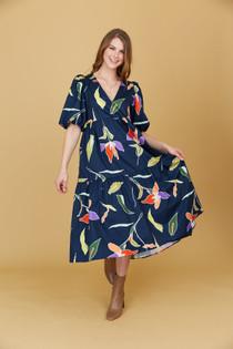 Brawley Dress, Blue Lilly