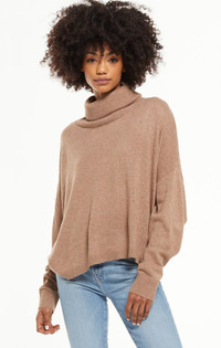 Agnes Turtleneck Sweater - Desert Taupe