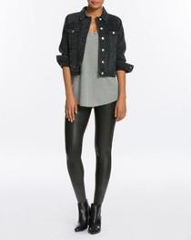 Faux Leather Leggings - Black