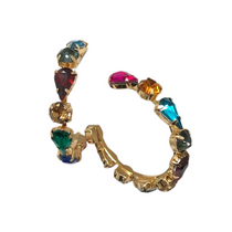ERF436 Jeweled Party Hoops