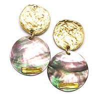 ERF260 Kiera Gold Shell Earring